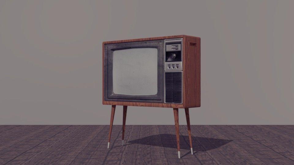 Vintage Tv 3d Model Obj Fbx 2
