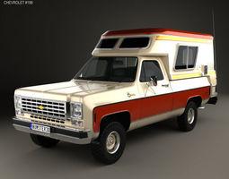 3D model Chevrolet Blazer Chalet 1976