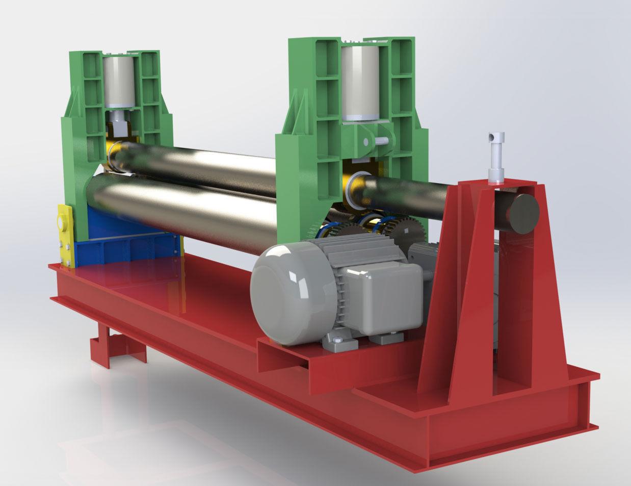 Steel Plate Rolling Machine Free 3d Model Stl Cgtrader Com