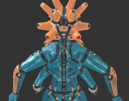 3d print model mech goddess