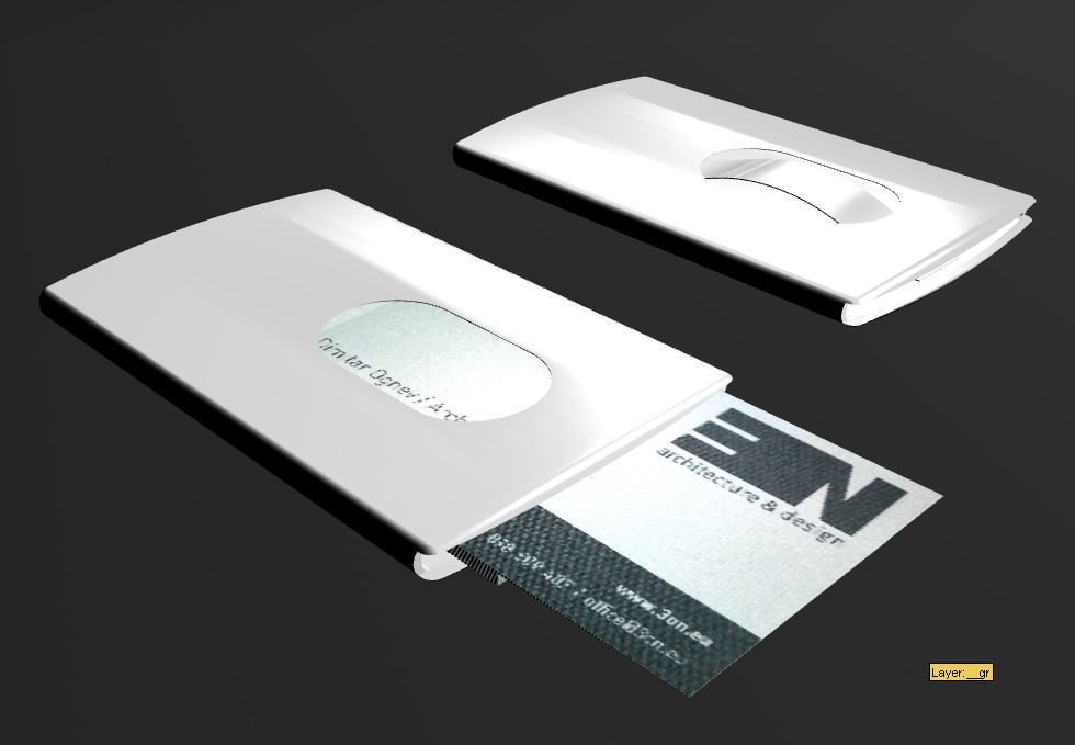 TROIKA card holder 3D | CGTrader