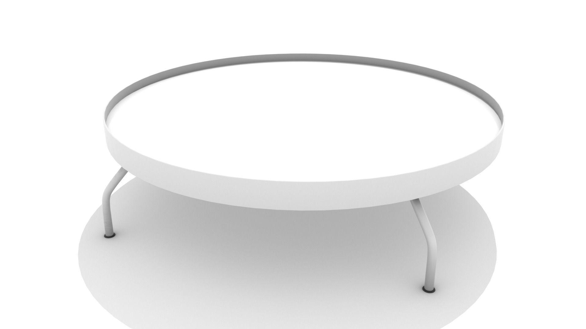 Low Metal Dish Coffee Table