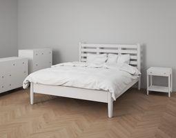 3D model Bedroom Furniture Set Cottage