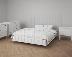 Bedroom Furniture Set Scandinavien 3D