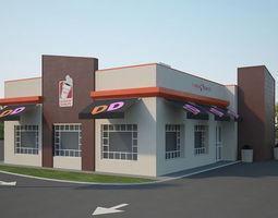 3D model Dunkin Donuts Restaurant 01 exterior