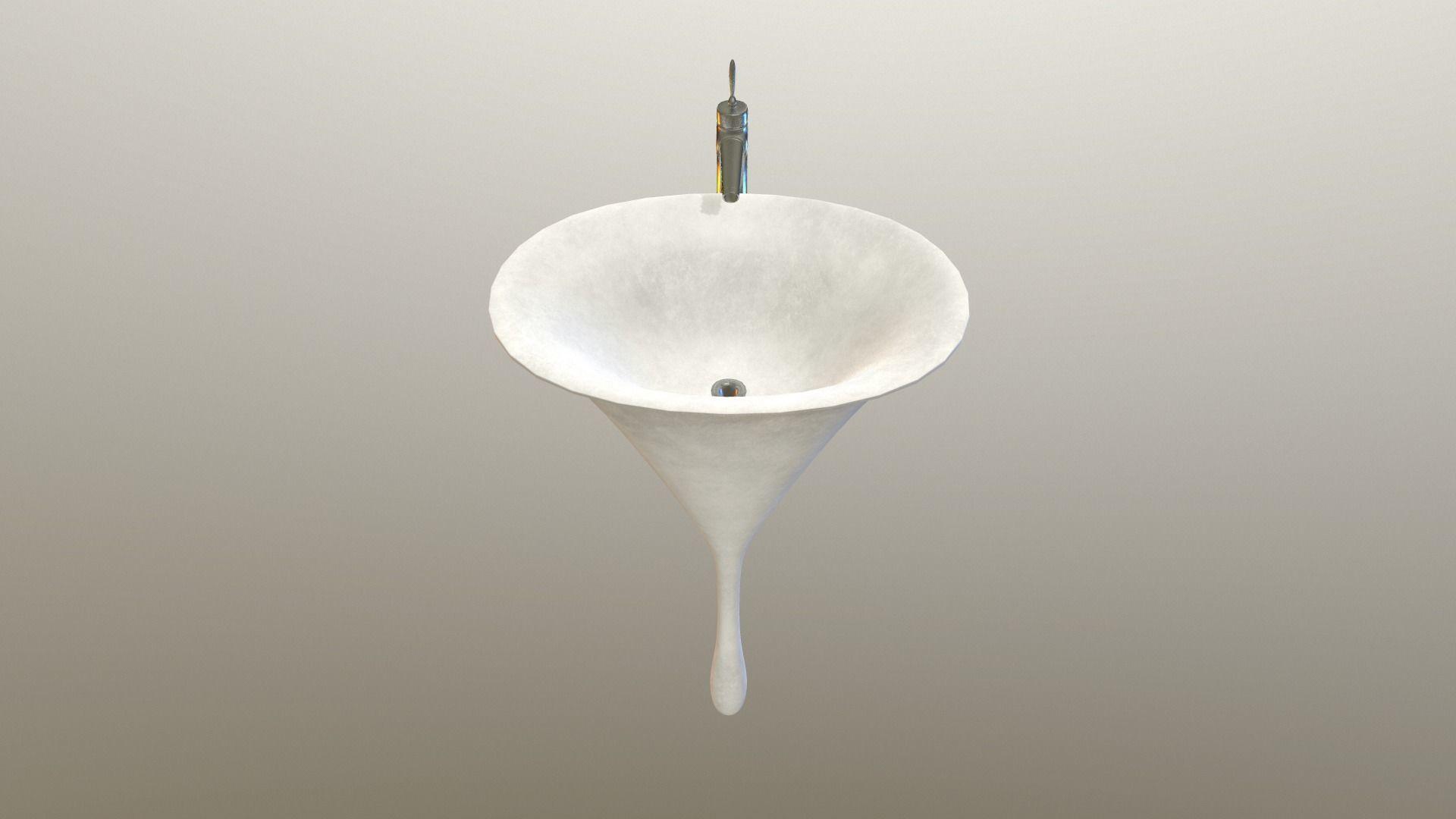 Unique Pedestal Sink 3d Asset Cgtrader