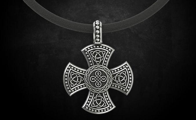 cross with celtic designs 326 3d model stl 3dm 1