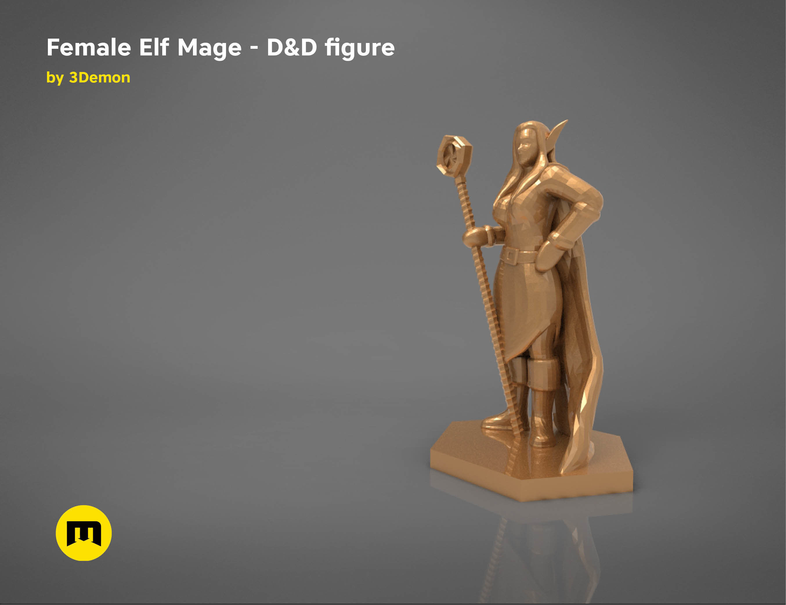 ELF MAGE FEMALE CHARACTER    GAME FIGURES