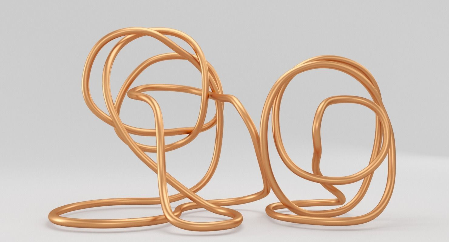 3D asset Copper Wire Sculpture | CGTrader