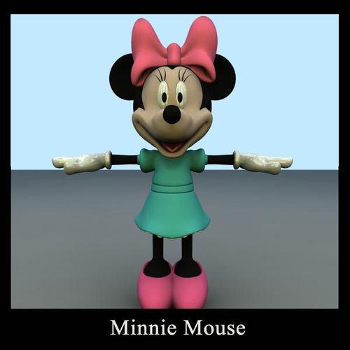 3d model minnie mouse cgtrader. Black Bedroom Furniture Sets. Home Design Ideas