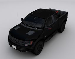 Ford Raptor F-150 3D asset game-ready