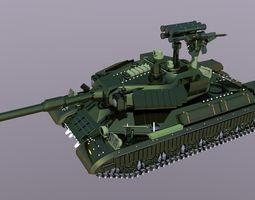 military battle tank 3D model
