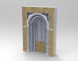 3D ancient window ancient door
