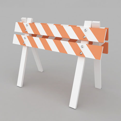 safety barrier 3d model max obj mtl 3ds 1