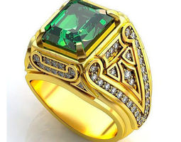 3D printable model gold Man ring