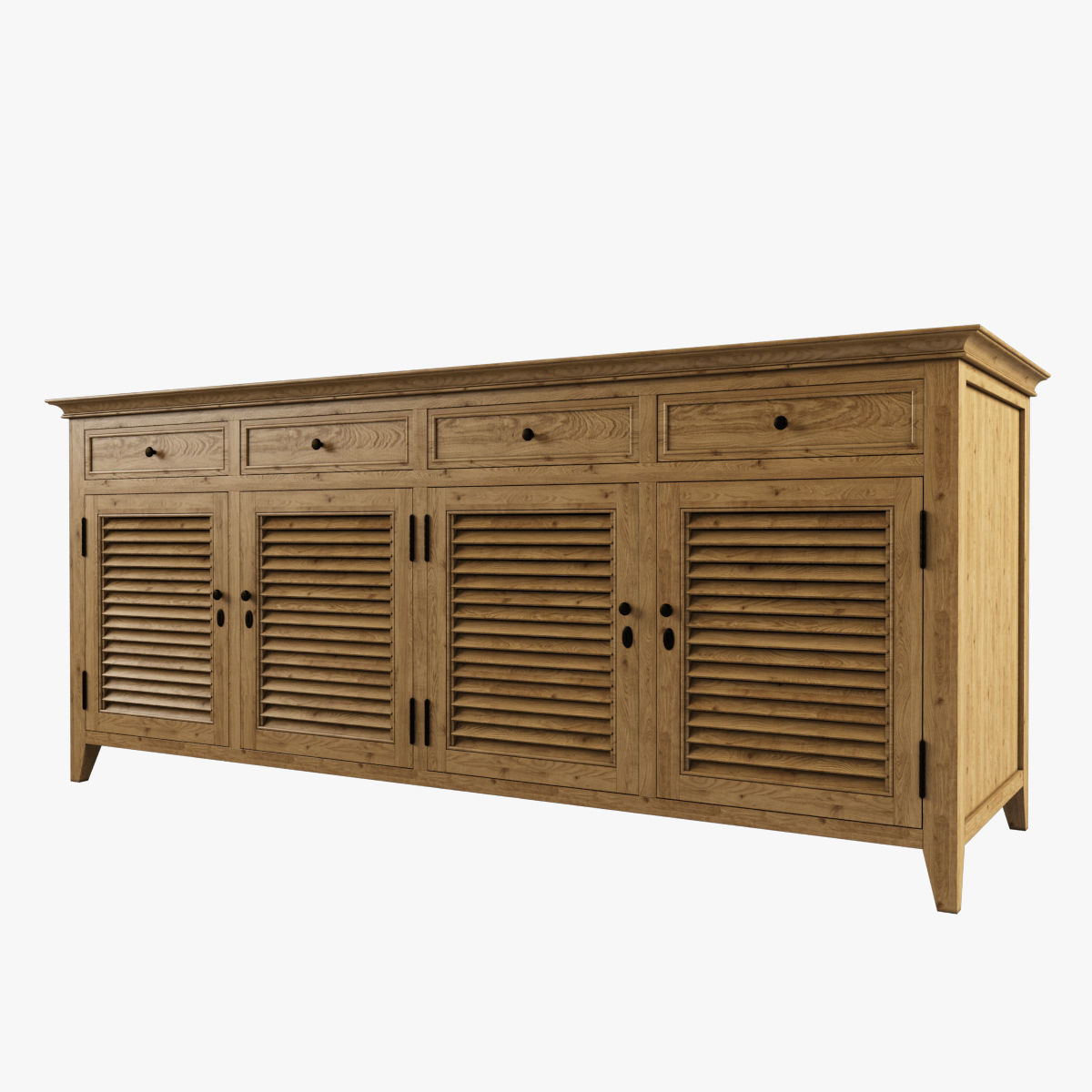 Restoration Hardware Shutter Low Cabinet