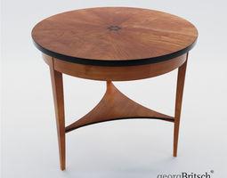 3D model Biedermeier salon table - Germany - Munich 1820 2