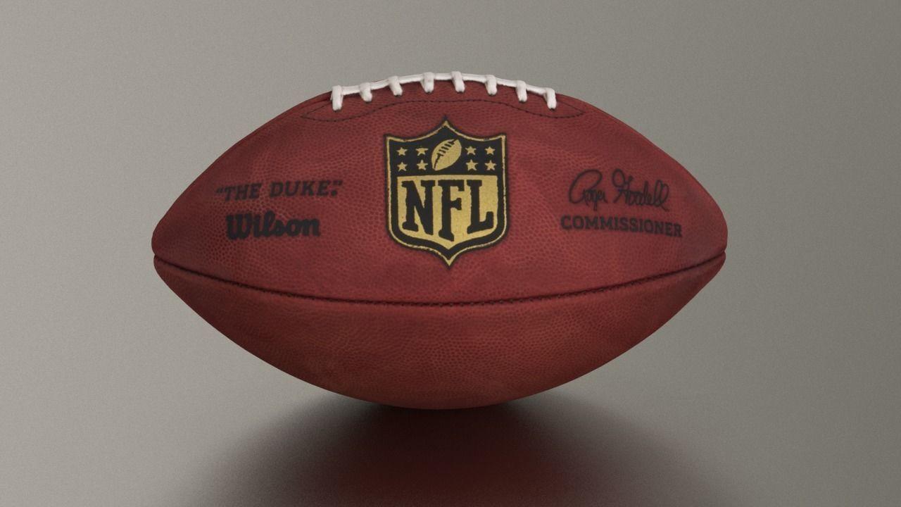 3e4a3cabfa2 official american nfl football 3d model max fbx c4d ma mb 1 ...