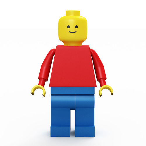 3d classic lego man cgtrader for Modele maison lego classic
