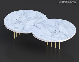 Eclipse Dots Coffee Table 3D