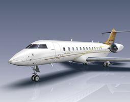 3D asset Bombardier Global 6000