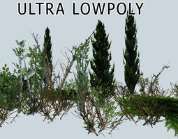 Shrub Pack Ultra Lowpoly 3D model