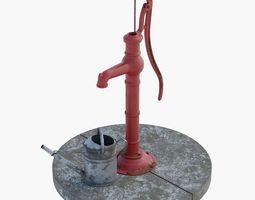 3D model Old hand waterpump