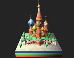 World Architecture 4 Moscow Kremlin Saint Basil 3D model