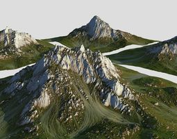 3D model realtime Green Mountain Pack