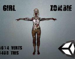 Girl Zombie 3D model