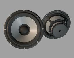 Audio Speaker Bass unit 3D