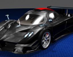 Revolucion Pagani Zonda Track Phantom-Shift 3D model
