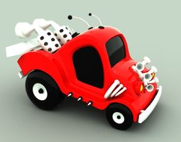 Race Car 3D asset animated