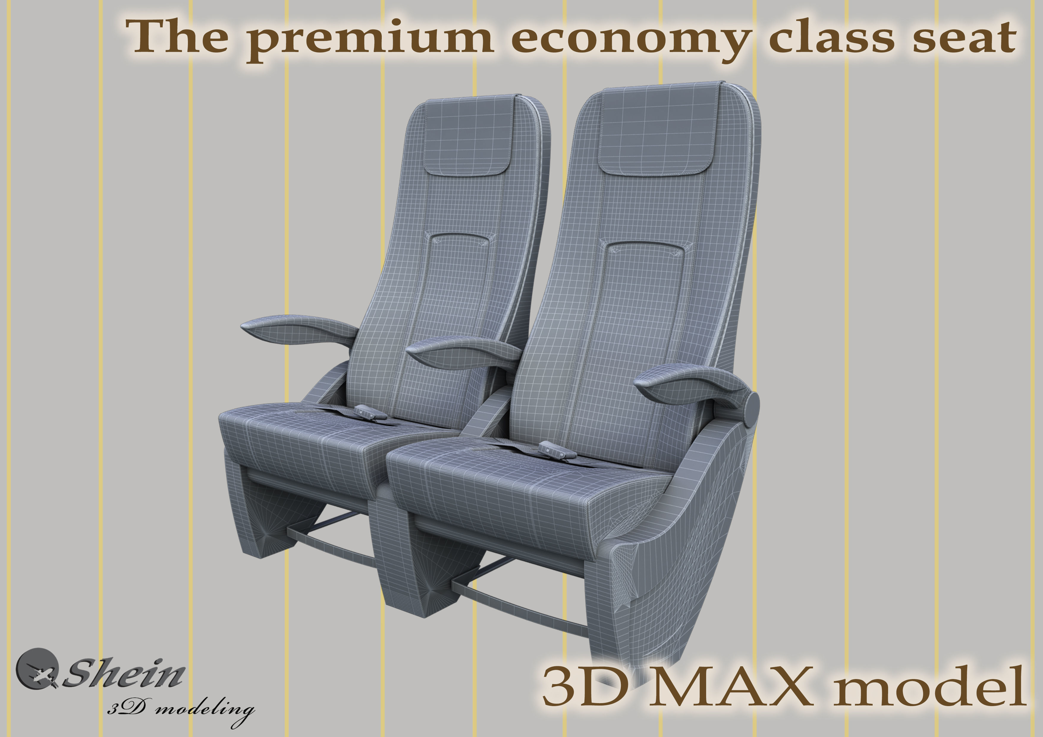 The premium economy class seat with stitches