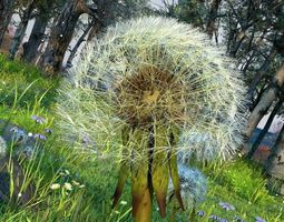 Dandelion and Forest Scene 12 3D model