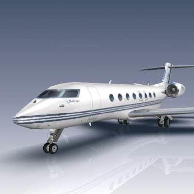 gulfstream g650 3d model max obj mtl 3ds fbx lwo lw lws flt 1
