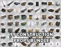 3D asset 99 Construction Props Bundle