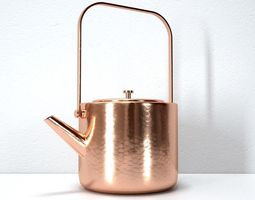 3D model Stainless Copper Tea Kettle