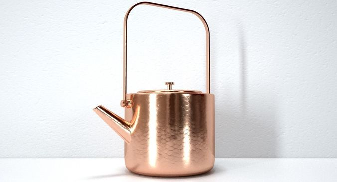stainless copper tea kettle 3d model max obj mtl fbx c4d 1