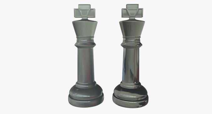 King Chess Pieces Glass 3d Model Obj Mtl Fbx Ma Mb Mel 1 ...