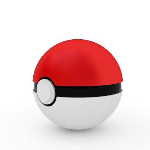 3d model pokemon ball cgtrader