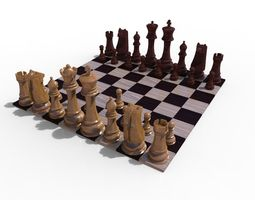 Chess Board queen 3D model