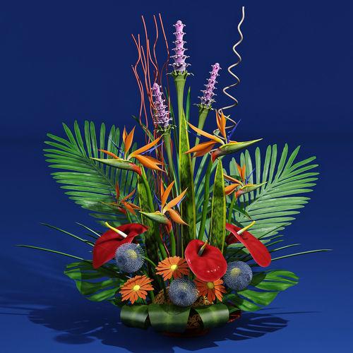 exotic bouquet 3d model max obj mtl fbx 1