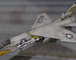 3D Vought F-8E Crusader
