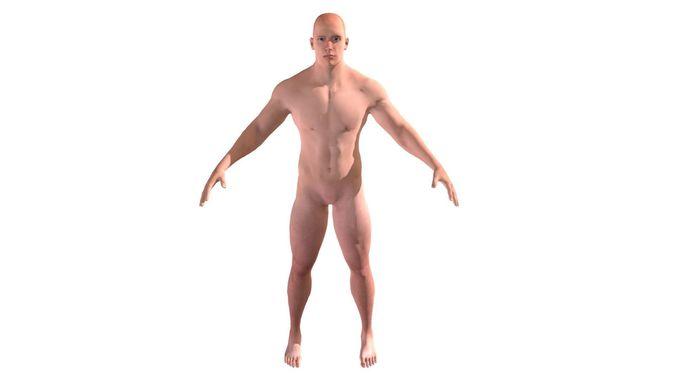 strong man character 3d model rigged obj mtl fbx stl dae 1