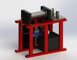 horizontal press brake 3d