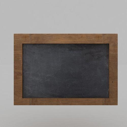 slate board 3d model max obj mtl 3ds fbx 1