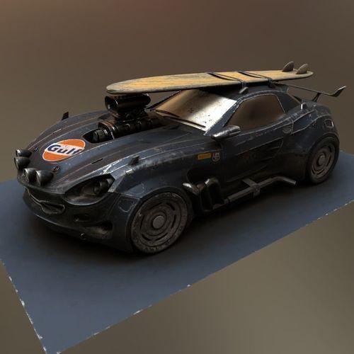 vulture scifi car concept 3d model low-poly max obj mtl 1