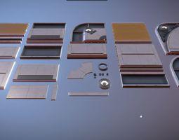 3D asset Sci Fi Ceiling Kit 1