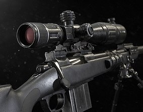 M40 Sniper Rifle - Mid Poly 3D model